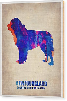 Newfoundland Poster Wood Print by Naxart Studio