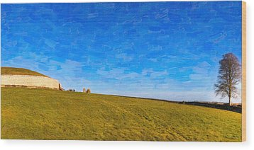 Newgrange - Ancient Observatory In Ireland Wood Print by Mark E Tisdale