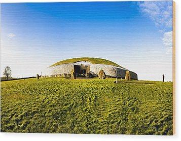 Newgrange - Mystery Of The Irish Boyne Valley  Wood Print by Mark E Tisdale