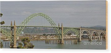 Newport Bay Bridge Wood Print by Susan Garren