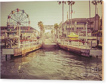 Newport Beach Balboa Island Ferry Dock Photo Wood Print by Paul Velgos