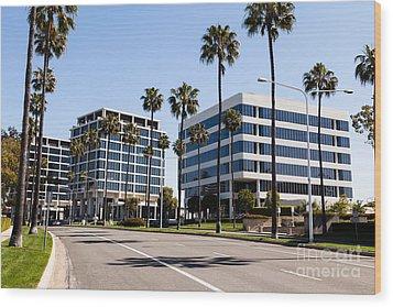 Newport Beach Office Buildings Orange County California Wood Print by Paul Velgos