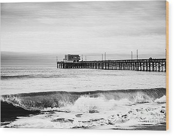 Newport Beach Pier Wood Print by Paul Velgos