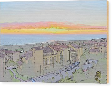 Wood Print featuring the photograph Newport Coast Sunset by Penny Lisowski