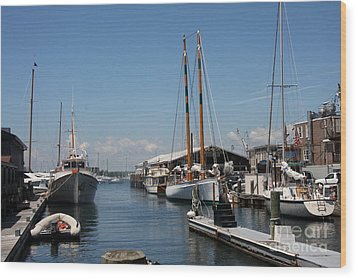 Newport - Rhode Island Wood Print by Christiane Schulze Art And Photography