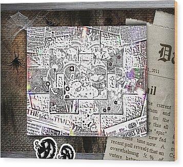 News Wood Print by HollyWood Creation By linda zanini