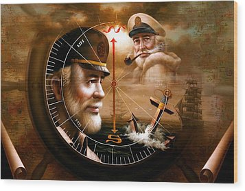 Imperishable Two Map Captain 3 Wood Print