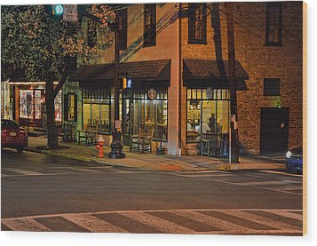 Newtown Nighthawks Wood Print