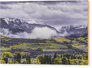 Newyorkmountaincolorado Wood Print by Darryl Gallegos