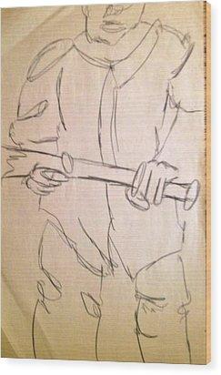 Next Batter Wood Print by Joe Davis
