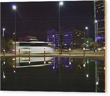 Wood Print featuring the photograph Next Stop by John Babis