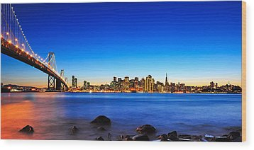 Next To The Bay Bridge And San Francisco Skyline Wood Print