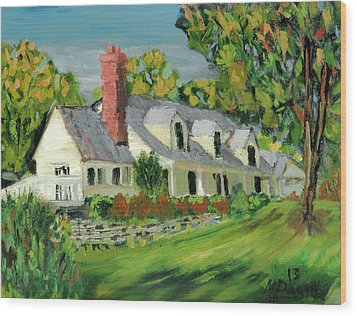Wood Print featuring the painting Next To The Wooden Duck Inn by Michael Daniels