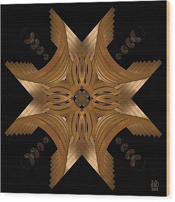 Nexus Wood Print by David Voutsinas