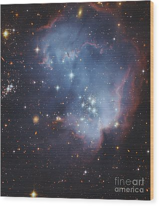 Ngc 602, Starforming Complex Wood Print by Robert Gendler