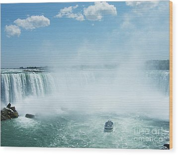 Wood Print featuring the photograph Niagara Falls In Spring by Phil Banks