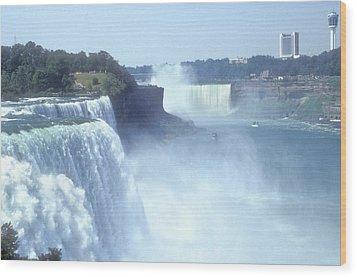 Niagara Falls - New York Wood Print by Mike McGlothlen