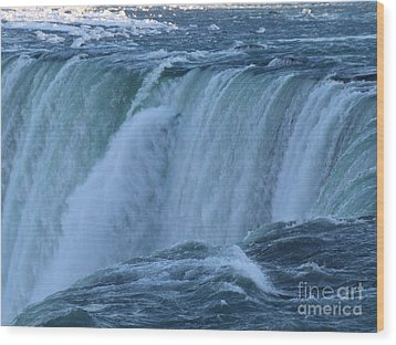 Wood Print featuring the photograph Niagara Falls - Power by Phil Banks
