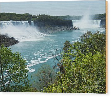 Wood Print featuring the photograph Niagara Falls - Springtime by Phil Banks
