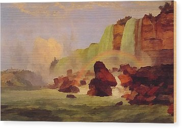 Niagara Falls With View Of Clifton House Wood Print by Jasper Francis
