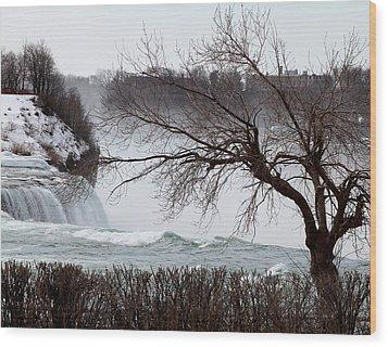 Wood Print featuring the photograph Niagara In Winter by John Freidenberg
