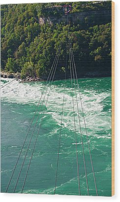Wood Print featuring the photograph Niagara River Cable Car by Marek Poplawski