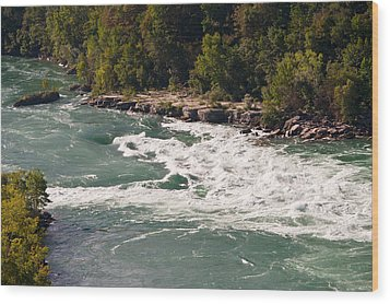 Wood Print featuring the photograph Niagara River Rapids by Marek Poplawski