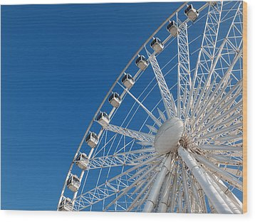 Niagara Sky Wheel Wood Print by Rob Amend