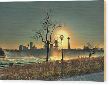 Niagara Sunset Wood Print