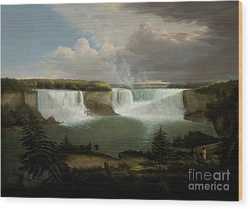 Niagra Falls By Alvan Fisher Wood Print