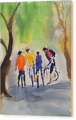 Nicasio Bikers Wood Print
