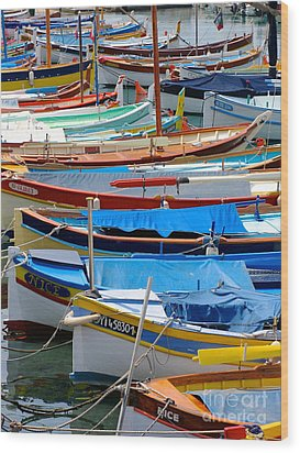 Nice Boats  Wood Print by Suzanne Oesterling
