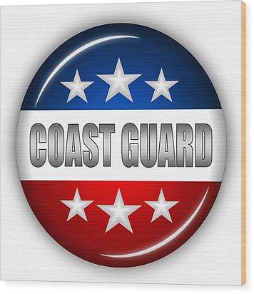 Nice Coast Guard Shield Wood Print by Pamela Johnson