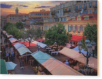 Nice Flower Market Wood Print by Inge Johnsson