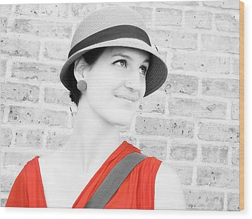 Wood Print featuring the photograph Nice Hat by Tony Murray