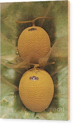 Nice Melons Wood Print by David Bearden