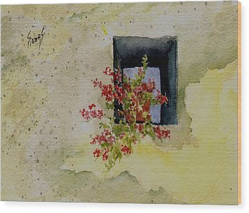 Niche With Flowers Wood Print by Sam Sidders