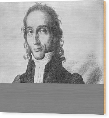Nicholo Paganini, Italian Violinist Wood Print by Science Photo Library