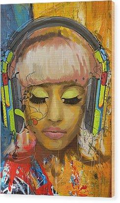 Nicki Minaj Wood Print
