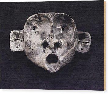 Nico Marble Mask Wood Print by Mark M  Mellon