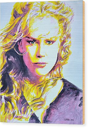 Nicole Kidman Wood Print by Victor Minca