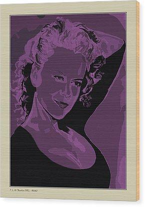 Wood Print featuring the digital art Nicole by Pedro L Gili