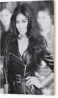 Nicole Scherzinger 20 Wood Print by Jez C Self