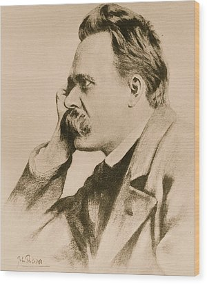 Nietzsche Wood Print by Anonymous