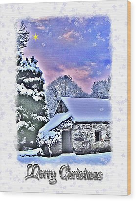 Christmas Card 27 Wood Print by Nina Ficur Feenan