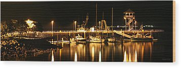 Night Boats Wood Print by Melisa Meyers