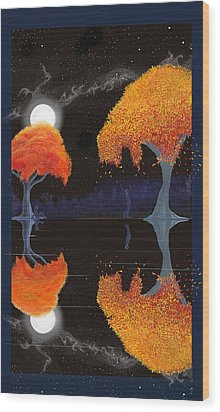 Night Companions  Wood Print