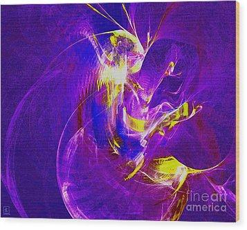 Night Dancer 1 Wood Print by Jeanne Liander