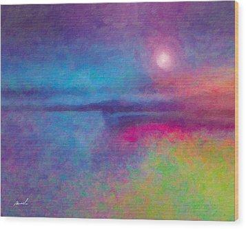 Night Dream Wood Print by The Art of Marsha Charlebois