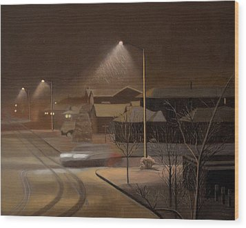 Night Drive Wood Print by Thu Nguyen